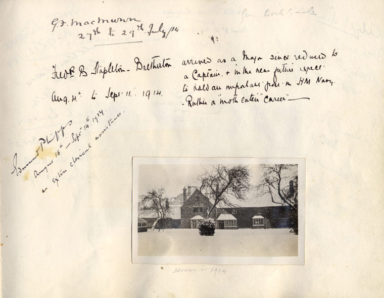 Page from Visitors Book